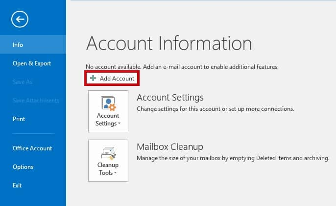 How to set up email in Outlook 2016 (IMAP) | Web Design in Horsham