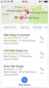 Google My Business 01403274316