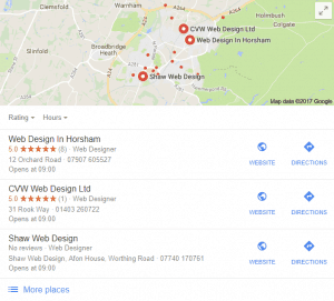 Web design in Horsham - 01403 801000
